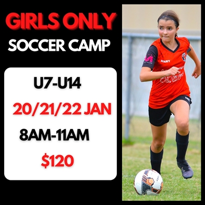 Girls  Only  January  Soccer  Camp